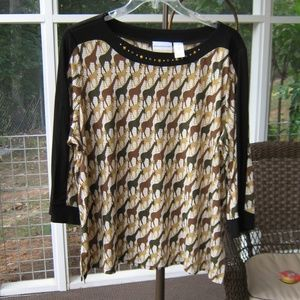 Plus top  Size 1X  Alfred Dunner